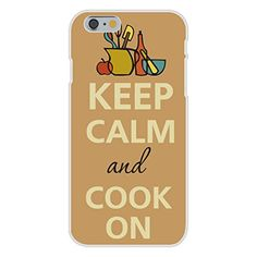 Apple iPhone 6 Custom Case White Plastic Snap On - Keep Calm and Cook On Kitchen Utensils
