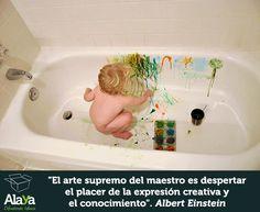 """""""El arte supremo del #maestro es despertar el placer de la expresión creativa y el conocimiento"""" Einstein www.alaya.es"""