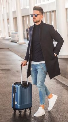 5 Ways To Layer Your Long Coat This Winter (Men) Winter inspo, su. - 5 Ways To Layer Your Long Coat This Winter (Men) Winter inspo, sunglasses, mens fashi - Mode Masculine, Suit Fashion, Fashion Outfits, Fashion Ideas, Fashion Menswear, Casual Outfits, Vest Outfits, Casual Shoes, Fashion Blogs