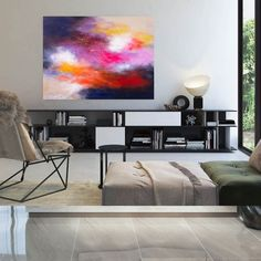 Oversized Wall Art Modern Abstract Painting Farmhouse image 4 Large Abstract Wall Art, Large Artwork, Colorful Artwork, Extra Large Wall Art, Canvas Painting Landscape, Acrylic Painting Canvas, Office Wall Art, Office Decor, Kids Room Paint