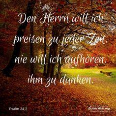 Gottes Wort: Psalm 34,2