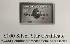$100 Mercedes Benz Gift Certificate Amex Platinum - Best Use - http://therewardboss.com/100-mercedes-benz-gift-certificate-amex-platinum/