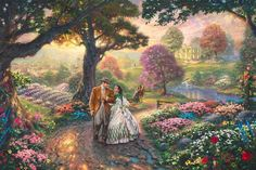 Disney Oil Paintings Thomas Kinkade Gone With The door ThomasArtwork, $30.00