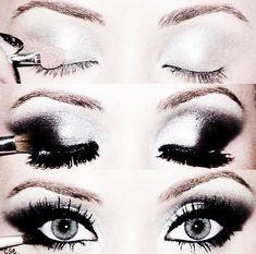 Silver Smokey Eye Make Up ღ