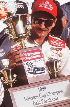 Dale Earnhardt 1994 Champion, Tied Him with Richard Petty, with 7 Winston Cup Championships Racing Baby, Terry Labonte, The Intimidator, Nascar Champions, Nascar Race Cars, Richard Petty, Tony Stewart, Just A Game, Dale Earnhardt Jr