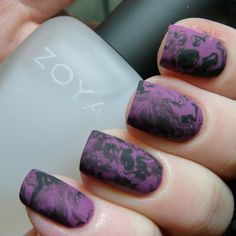 Gorgeous any time of the year, but perfect for a classy #Halloween look!! Purple and Black Dry-Brush
