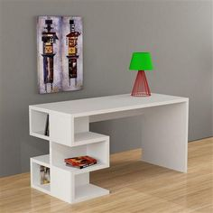 Buy Now!Decortie Aron desk, unique home office computer desk at cheapest prices for the UK.White, Dark brown high quality, gloss writing desk for study room. Tv Unit Furniture, Furniture Direct, Furniture Deals, Wood Furniture, Modern Furniture, Furniture Design, Home Office Computer Desk, Office Table, Study Table Designs