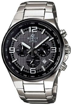 Casio Men's Edifice EFR515D-1A7V Silver Stainless-Steel Quartz Watch with Black Dial Casio. $121.26