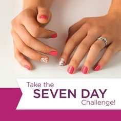 Put your free sample to the test! Cut in half, apply to one nail on each hand, and paint the rest with your favorite polish! Take a pic on  Day 1 and Day 7 to see which lasts the longest!  https://katysvatek.jamberry.com/us/en/shop