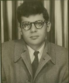 """Allen Ginsberg ca 1948. Note on back reads """"One of Bill Garver's overcoats, 1947-48, 50s,52, 53?"""" Allen clearly wasn't sure exactly when it was from. Bill Garver was a drug connection friend of Herbert Huncke and William Burroughs, who made a living stealing coats from customers in restaurants."""