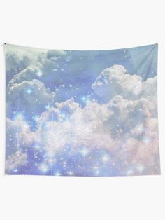 """""""Cloud Vintage Sparkly Aesthetic"""" Tapestry by ind3finite 