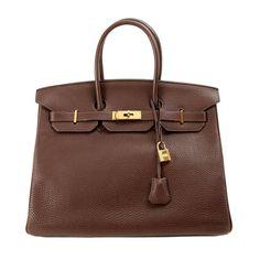 Herme s Brown Togo Leather 35 cm Birkin Bag with GHW  4226f0b5402ee