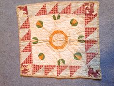 "Antique  Doll  Quilt   1920's   19""  by  18"".     ...~♥~"