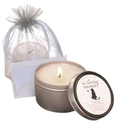 Amazon.com: Luxepets In Loving Memory Pet Lovers Dog Memorial Candle: Pet Supplies