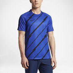 Nike Dry Squad Men's Short Sleeve Soccer Top Size Medium (Blue)