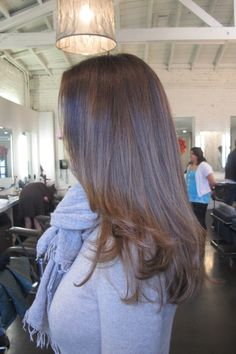 chocolate brunette hair color know that asking for a cooler, ash tone during the colder months is smart because these tones look better on paler complexions.