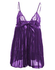 C.C.Beauty Women s Sexy Babydoll Lingerie Lace Strappy Dress at Amazon  Women s Clothing store  284db9ab0