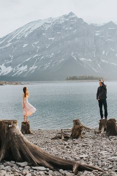 Marian and Phil – Upper Kananaskis Lake Adventure Engagement Photography