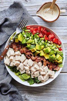 Türkei Club Gehackte Salat mit Aioli Vinaigrette {Paleo-freundliche}