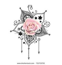 Mandala tattoo rose hand drawn lotus pental flower sacred sy… – Everything for Tattoo Pretty Tattoos, Cute Tattoos, Beautiful Tattoos, Body Art Tattoos, New Tattoos, Sleeve Tattoos, Tatoos, Symbol Tattoos, 1 Tattoo