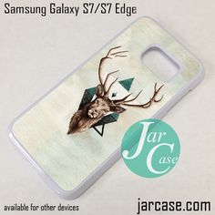 Deer Head Art Phone Case for Samsung Galaxy S7 & S7 Edge
