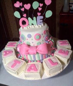 Babies First Birthday Cake With Blocks By Tpcltcclc On Central