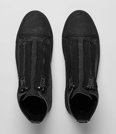 Mens Equip Hi-Top (Washed Black) | ALLSAINTS.com