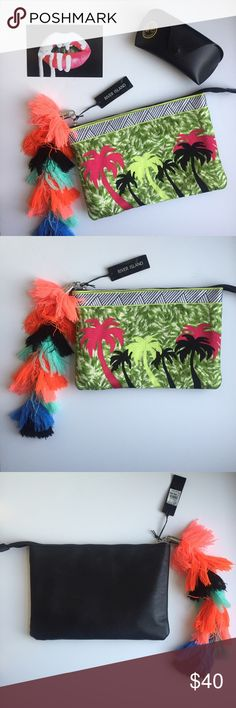"""Adorable Colorful Clutch All eyes will be on you and your adorable clutch when you wear this! // From River Island, never worn. // Make me an offer! // Dimensions: about 10.5"""" by 7"""". River Island Bags Clutches & Wristlets"""