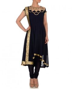 Navy Blue Anarkali Suit- Buy Suits,Kommal Sood Online | Exclusively.in