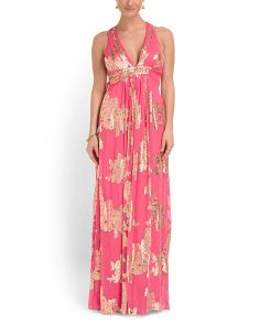 @TJMaxx Silk Blend Printed Long Dress