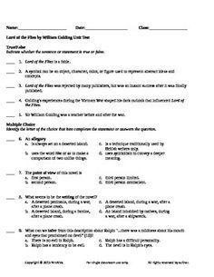 Worksheets Lord Of The Flies Vocabulary Worksheet lord of the flies objective test a comprehensive 100 question if you need for by william golding have