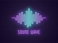 Neon sound wave by Dmitry Mayer Neon Light Wallpaper, Lit Wallpaper, Wave Design, Logo Design, Graphic Design, Sound Logo, Neon Led, Sound Waves, Music Waves