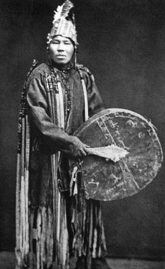 Shaman of the Soyot people from 1898. The Soyot are reindeer herders who are related to the Tuvans