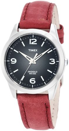 Timex Women's T2N642 Weekender Classic Casual Rose Leather Strap Watch *** Check this awesome watch by going to the link at the image.