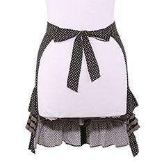 Amazon.com: Neoviva Cotton Girls Waist Apron with Pocket and Ruffles: Kitchen & Dining