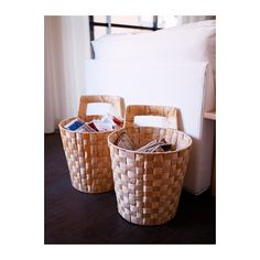NÄSUM Basket with handle IKEA Each basket is woven by hand, which makes each one unique.