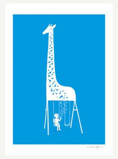 this is just a picture, but it would  be SUCH a cool playset with the spots on the giraffe being a climbing wall