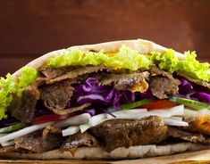 A healthier version of a takeaway doner kebab, which can be high in fat - try this lower fat, but very tasty alternative. Slow Cooker Recipes, Cooking Recipes, Healthy Recipes, Healthy Dinners, Crockpot Recipes, Healthy Food, Slimming World Doner Kebab, Meat Cooking Times, Cooking