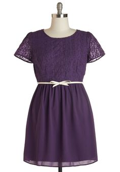 Subtly Sweet Dress. You dont need an all-out flashy ensemble to get noticed when you have this deep-purple dress to don! #purple #modcloth
