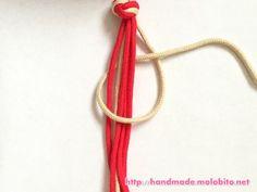 タッチング結びの編み方手順8