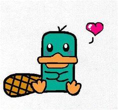 Perry the Platypus (Perry, o ornitorrinco) Cute Disney Drawings, Cute Easy Drawings, Kawaii Drawings, Cartoon Drawings, Animal Drawings, Drawing Disney, Disney Doodles, Cute Disney Wallpaper, Cartoon Wallpaper