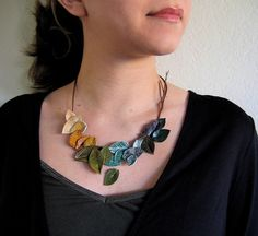 Leaves and branches necklace