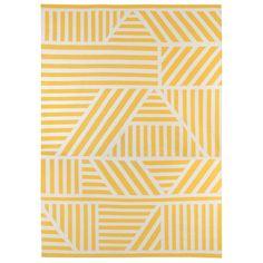 Loha Yellow White Rug By Kangan Arora Patterned Rugs Living Room