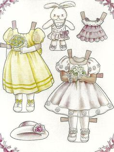 Doll World - Yuko Green paper dolls