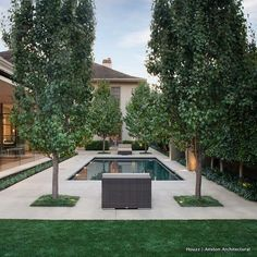 """146 Likes, 6 Comments - Houzz Australia (@houzzau) on Instagram: """"Designed by Jack Merlo Design, the sweet, sweet symmetry in this garden gives a 5-star resort…"""""""