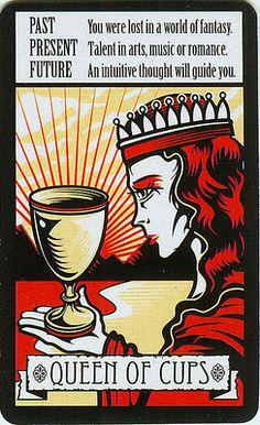 idea: queen of cups, art nouveau style