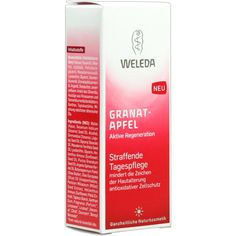 WELEDA Granatapfel straffende Tagespflege:   Packungsinhalt: 30 ml Tagescreme PZN: 02049714 Hersteller: WELEDA AG Preis: 11,56 EUR inkl.…