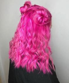 Preferred Hair Rose Red Brazilian Remy Human Hair Wig Straight Wigs with Baby Hair Wigs for Bright Pink Hair, Hot Pink Hair, Hair Color Pink, Hair Dye Colors, Cool Hair Color, Pretty Hairstyles, Wig Hairstyles, Pelo Multicolor, Coloured Hair