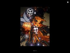 Halloween garland from all meshed up on etsy