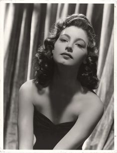 Portrait of Ava Gardner by Clarence Sinclair Bull, 1942
